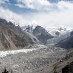 Gletscher des Nanga Parbat von Fairy Meadows gesehen