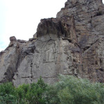 Uralte Felsgravur des Buddha nahe Gilgit