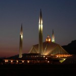 Shah Faisal Mosque bei Nacht - Islamabad