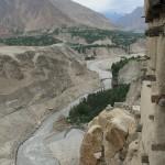 Blick vom Altit Fort auf den Hunza Fluss