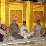 Traditionelle Hunza-Musiker in Aktion