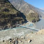Brücke des Karakorum Highway über den Indus