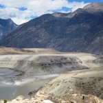 Das tief eingeschnitte Tal des Hunza-Flusses