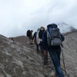 Bei der Gletscherquerung