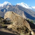 Adler-Felsen im Eagle-Nest vor dem 7.788 m hohen Rakaposhi