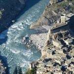 Altit-Fort und Hunza-Fluss vom Eagle-Nest