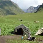 Nomadische Siedlung