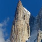 Der Lady Finger Peak (6.000 m) oberhalb von Karimabad