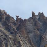 Bizarre Felsformation oberhalb von Hushe